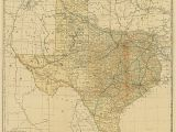 Lonesome Dove Texas Map Railroad and County Map Of Texas 1893 Digital Art by Texas Map Store