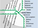Luas Map Dublin Ireland Dart and Short Hop Zone Fares