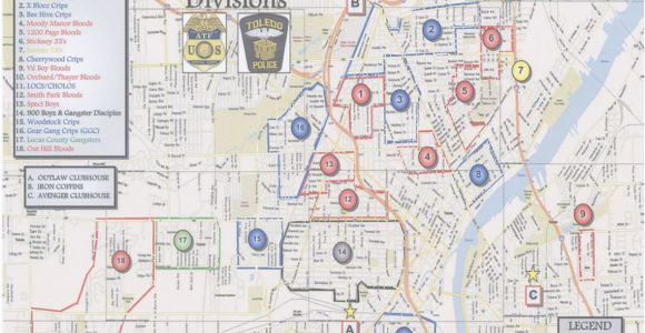 Lucas County Ohio Map the Blade Obtains toledo Police Department S Gang Territorial