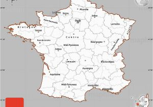 Lyon On Map Of France Gray Simple Map Of France Cropped Outside