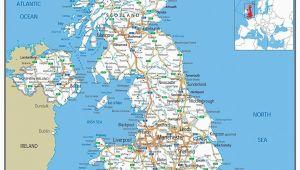 M1 Motorway Map England A1 Paper Laminated Uk Road Map Ga