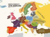 Mainland Europe Map Europe According to Latin Americans Yanko Tsvetkov S