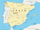 Major Cities In Spain Map Fotografie Obraz Spain Political Map with the Capital Madrid