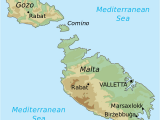 Malta Map Of Europe topographic Map Of Malta Draw It to Know It In 2019