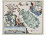 Malta On Map Of Europe 1720 Malta Map Poster Zazzle Com Old Malta Malta Map
