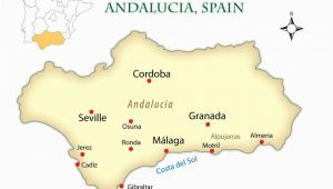 Map andalucia Region Spain andalusia Spain Cities Map and Guide