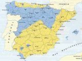 Map Avila Spain Territories Controlled by the Two Sides at the Start Of the Spanish