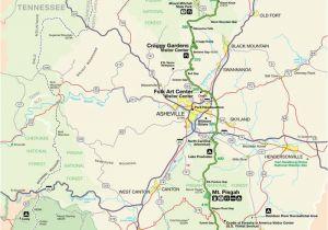 Map Boone north Carolina Blue Ridge Parkway Maps