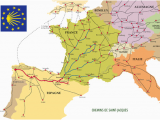 Map Camino Frances Camino De Santiago Revolvy