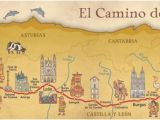 Map Camino Frances Camino Frances De Santiago Pilgrim souvenir Poster Map In