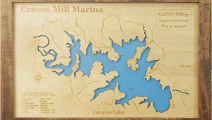 Map Canyon Lake Texas Amazon Com Canyon Lake Texas Framed Wood Map Wall Hanging Handmade