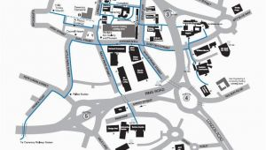 Map Coventry England Campus Map Information Card Edition Campus Map Coventry