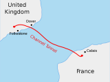 Map Dover England Channel Tunnel Wikipedia