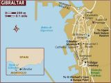 Map Gibraltar and Spain Large Gibraltar Maps for Free Download and Print High Resolution