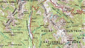 Map Grand Lake Colorado the Glaciation Of Grand Lake