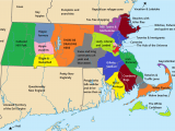 Map if New England 14 Problems that Massholes Have to Face once they Move Funny