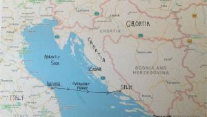 Map Italy and Croatia Travelling From Ancona Italy to Split Croatia Travel Ancona
