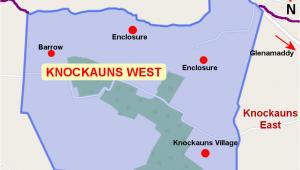 Map Knock Ireland Knockauns West