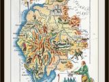 Map Lake District England England Map Jacques Liozu 1956 Lake District Wordsworth Great Britain United Kingdom Frameable Wall Art History Geography Teacher