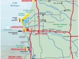 Map Lake Michigan Shoreline West Michigan Guides West Michigan Map Lakeshore Region Ludington