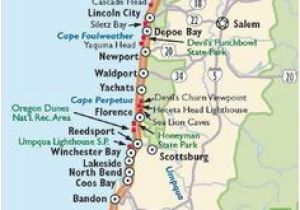 Map Lincoln City oregon Simple oregon Coast Map with towns and Cities oregon Coast In