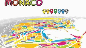 Map Monaco France Monaco Monaco Downtown Map In Perspective Monaco Map
