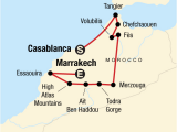 Map Morocco and Spain Highlights Of Morocco