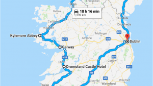 Map Mullingar Ireland the Ultimate Itinerary for 7 Days In Ireland Travel and Vacation