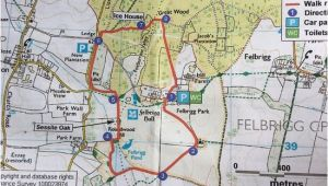 Map norwich England the Circular Walk Route Map Picture Of Felbrigg Hall