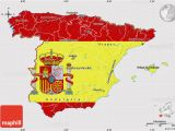 Map Od Spain Flag Map Of Spain