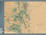 Map Of 14ers In Colorado Amazon Com Best Maps Ever Colorado State Parks Federal Lands Map
