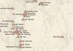 Map Of 14ers In Colorado Products Best Maps Ever