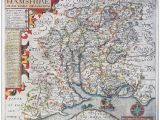 Map Of 16th Century England Hampshire S Maps Sea Serpents and Trains Hampshire