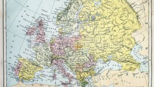 Map Of 19th Century Europe Fotografia Map Of 19th Century Europe Kup Na Posters Pl