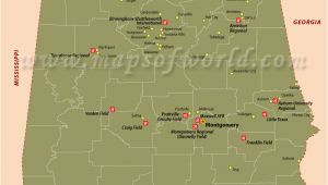 Map Of Alabama Airports Airports In Alabama Alabama Airports Map