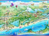 Map Of Alabama Beaches Illustrated Maps Alabama Beach Guide Illustrated Map Maps