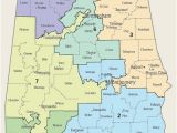 Map Of Alabama with Counties United States Congressional Delegations From Alabama Wikipedia