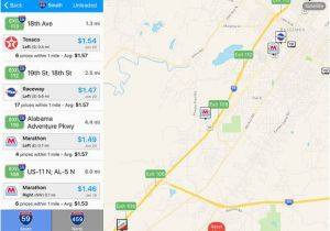 Map Of Alabama with Interstate Exits Iexit Gas Cheapest Gas Prices by Interstate Exit App Price Drops