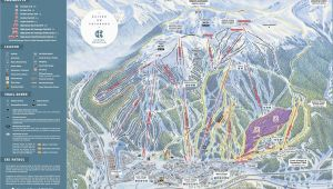 Map Of All Colorado Ski Resorts Copper Mountain Resort Trail Map Onthesnow