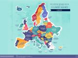 Map Of All the Countries In Europe World Map the Literal Translation Of Country Names