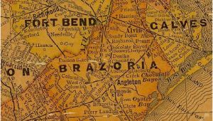 Map Of Alvin Texas Brazoria County and Ft Bend County Texas 1920s Map Texas History