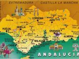 Map Of andalucia Region Of Spain andalusia Spain Postcard Exchange One World andalusia Spain