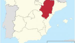 Map Of Aragon Spain Aragon Wikipedia