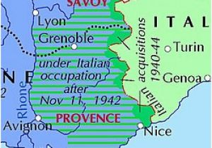 Map Of areas Of France Italian Occupation Of France Wikipedia