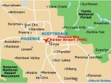 Map Of Arizona Airports Map Of Phoenix Sky Harbor Airport Phx orientation and Maps for