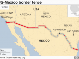Map Of Arizona and Mexico Border Trump Wall President Addresses Nation On Border Crisis Bbc News