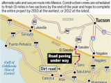 Map Of Arizona Mexico Border Traffic Via Sasabe May Surge as 33 Miles Of Road are Paved Border