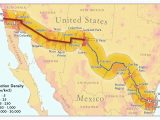Map Of Arizona Mexico Border Us Mexico Border Map Luxury United States Map Baja California Valid