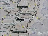 Map Of Arizona Sedona Access Via Long Canyon Road Bild Von Devil S Bridge Trail Sedona