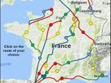 Map Of Belgium France and Germany Index Map Of Chemins De St Jacques and Other Long Distance